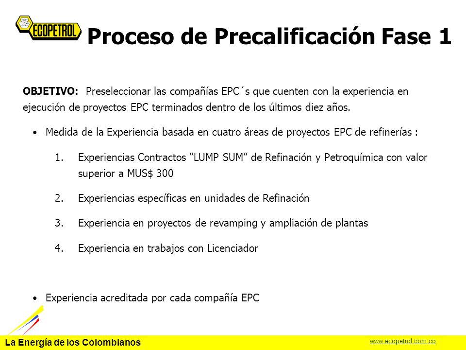 Proceso de Precalificación Fase 1