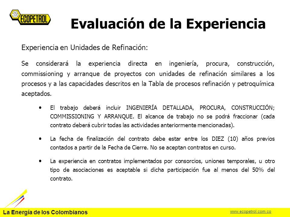 Evaluación de la Experiencia