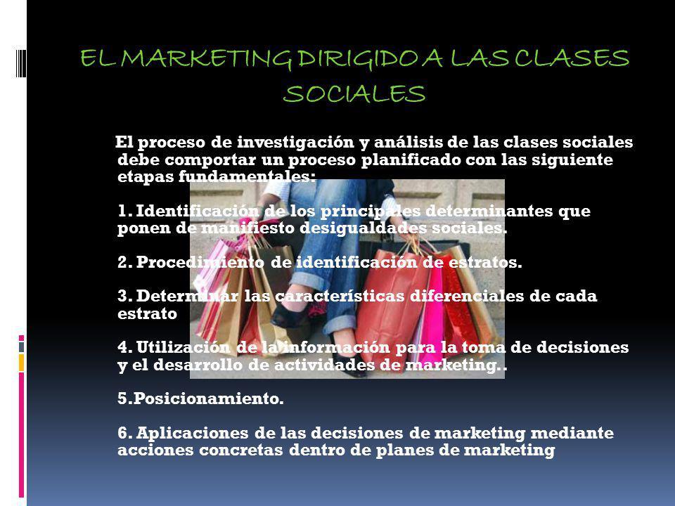 EL MARKETING DIRIGIDO A LAS CLASES SOCIALES