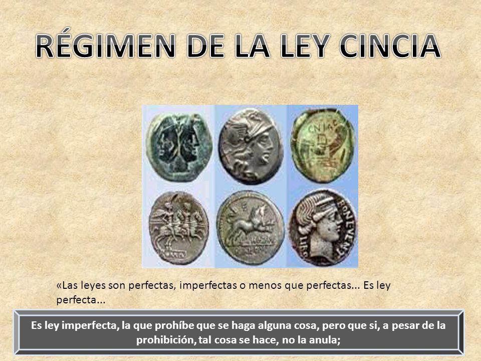RÉGIMEN DE LA LEY CINCIA