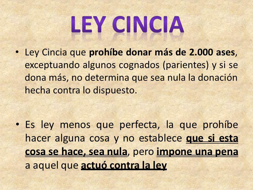 LEY CINCIA
