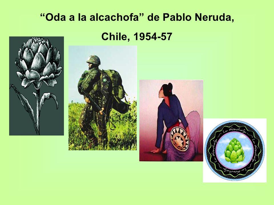 Oda a la alcachofa de Pablo Neruda,