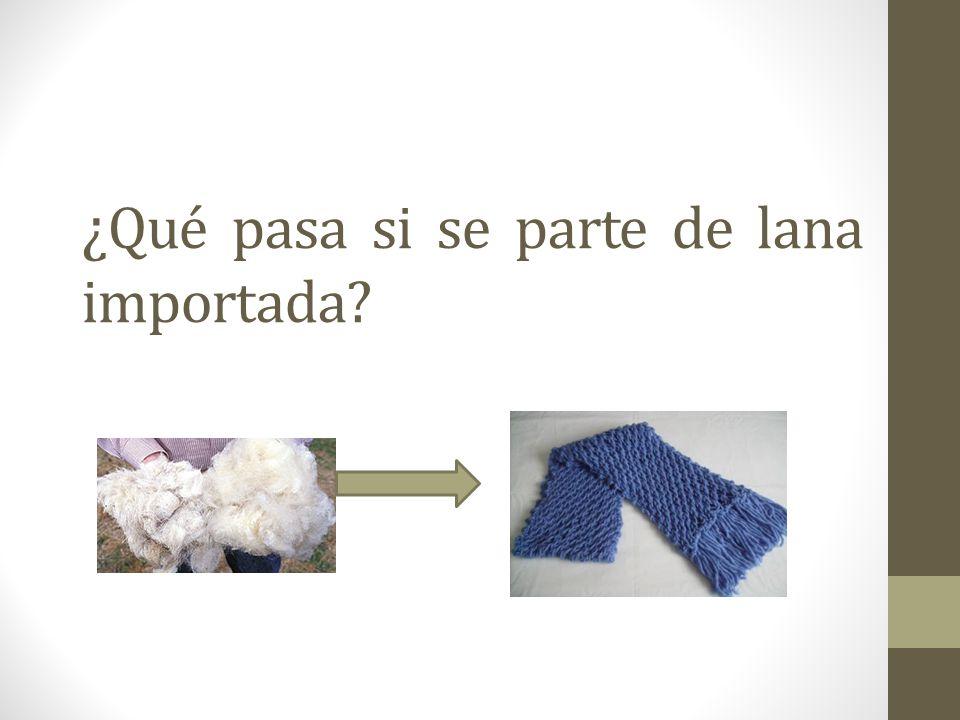 ¿Qué pasa si se parte de lana importada