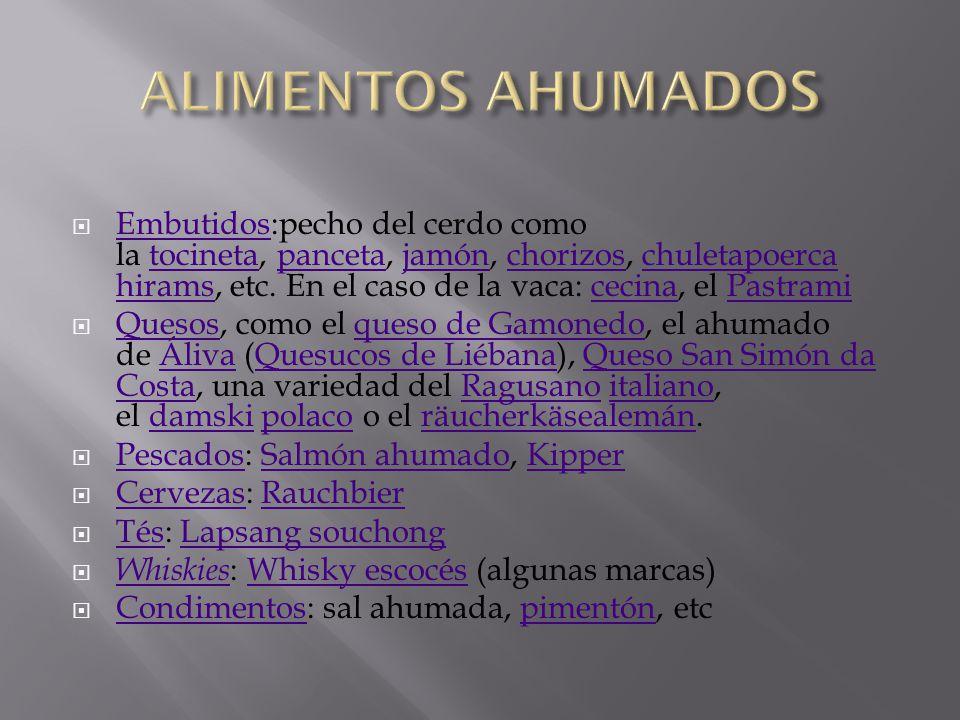 ALIMENTOS AHUMADOS