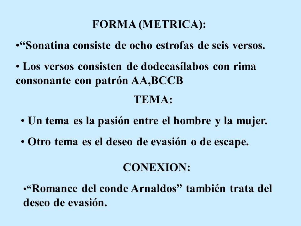 FORMA (METRICA): TEMA: