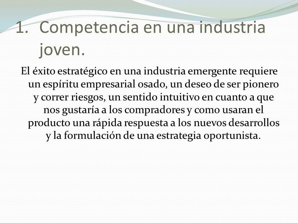 Competencia en una industria joven.