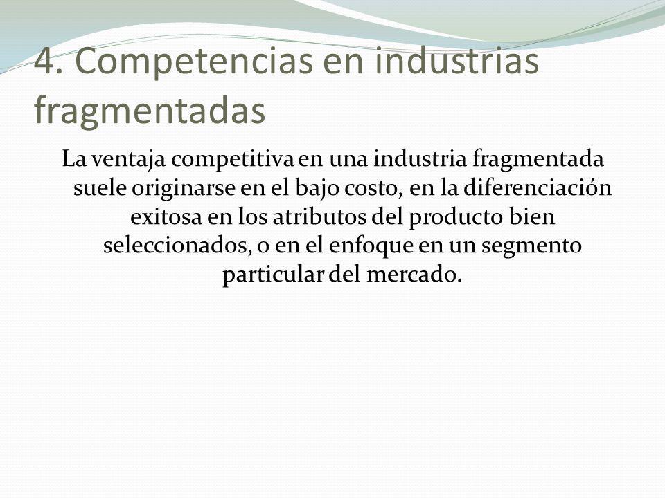 4. Competencias en industrias fragmentadas