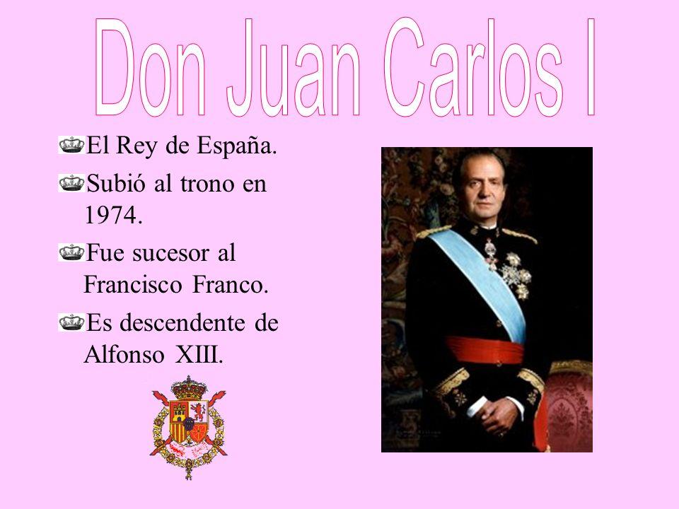 Don Juan Carlos I El Rey de España. Subió al trono en 1974.
