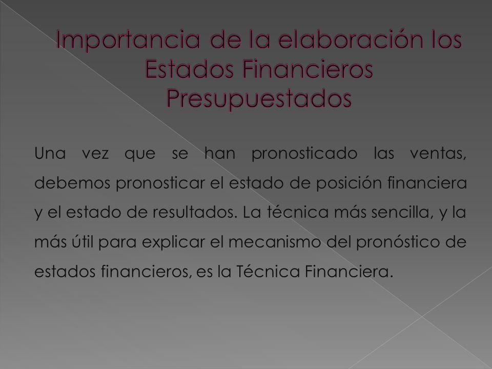 Importancia de la elaboración los Estados Financieros Presupuestados