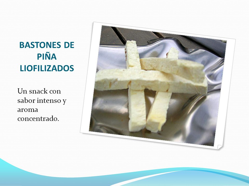 BASTONES DE PIÑA LIOFILIZADOS
