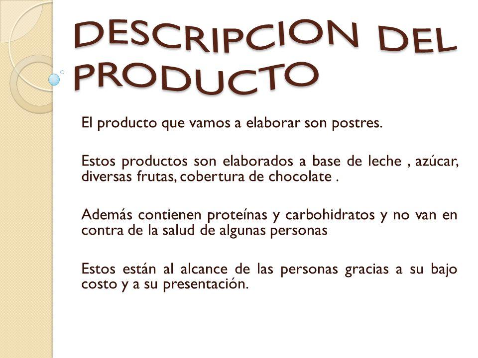 DESCRIPCION DEL PRODUCTO