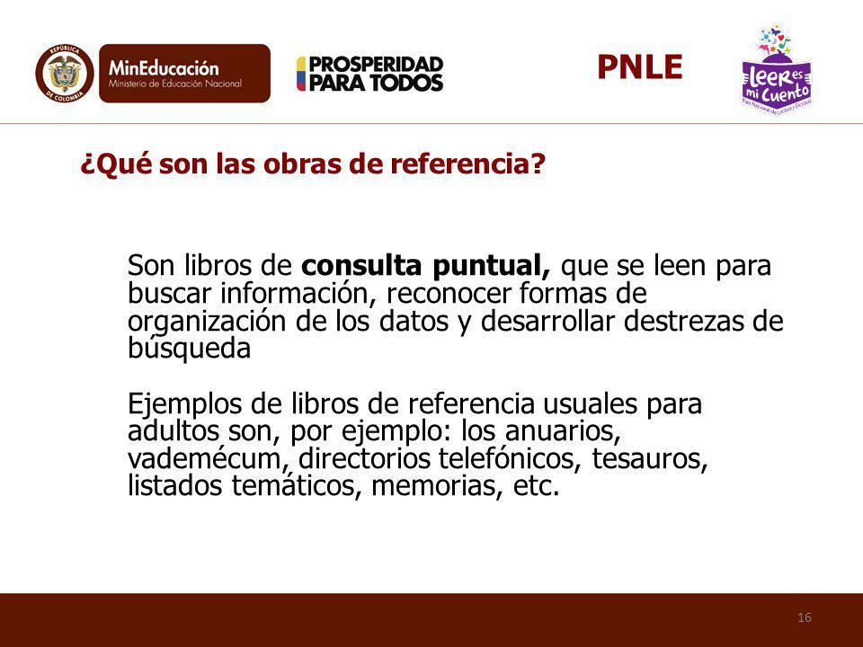 PNLE ¿Qué son las obras de referencia