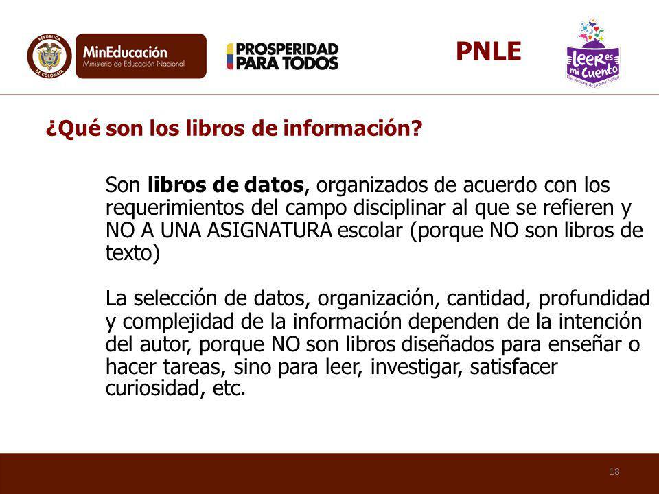 PNLE ¿Qué son los libros de información