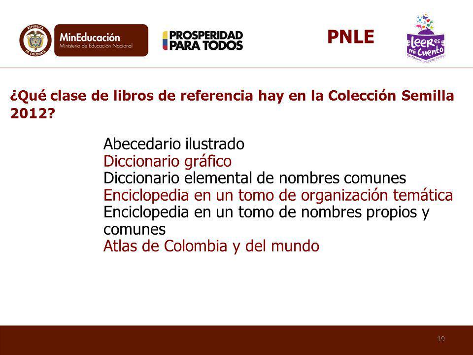 PNLE ¿Qué clase de libros de referencia hay en la Colección Semilla 2012