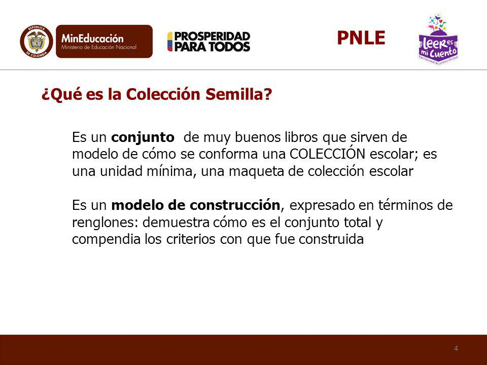 PNLE ¿Qué es la Colección Semilla