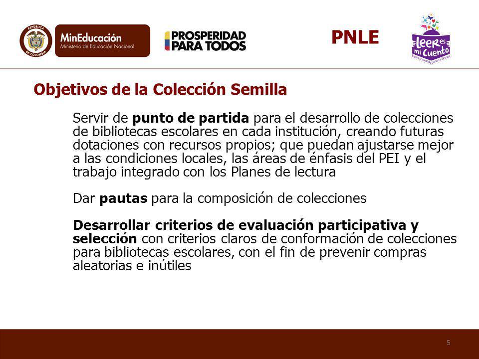 PNLE Objetivos de la Colección Semilla