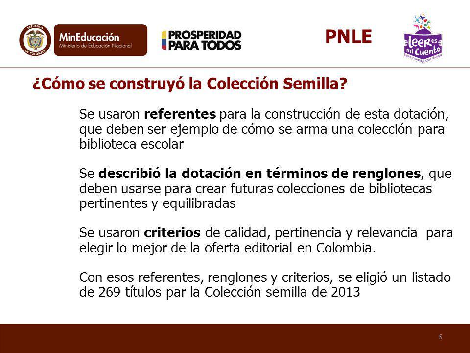 PNLE ¿Cómo se construyó la Colección Semilla