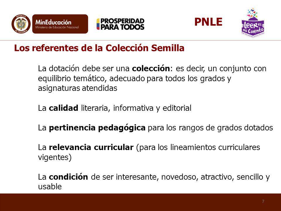 PNLE Los referentes de la Colección Semilla.