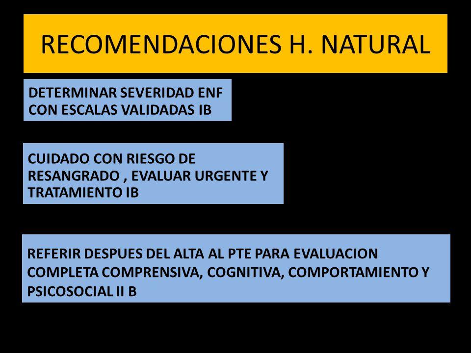 RECOMENDACIONES H. NATURAL