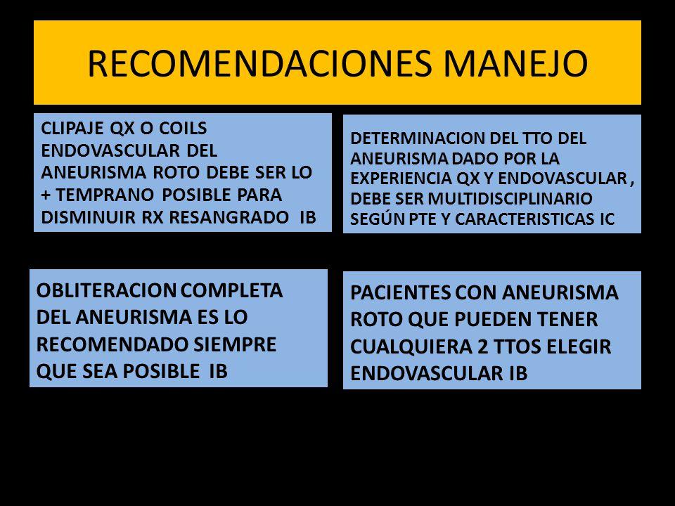 RECOMENDACIONES MANEJO