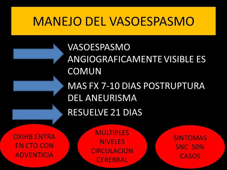 MANEJO DEL VASOESPASMO