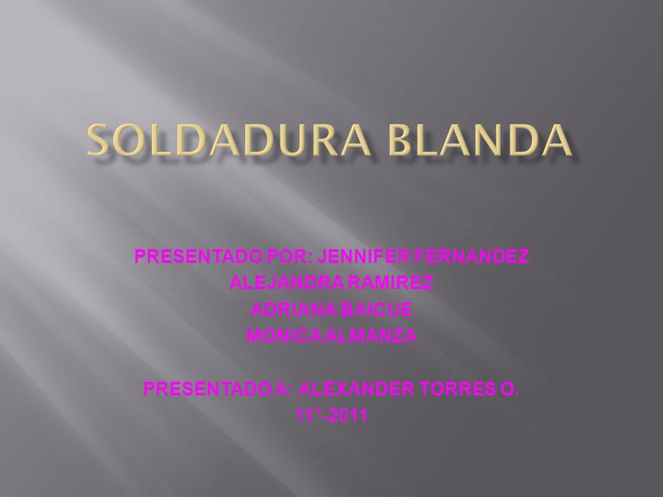 PRESENTADO POR: JENNIFER FERNANDEZ PRESENTADO A: ALEXANDER TORRES O.