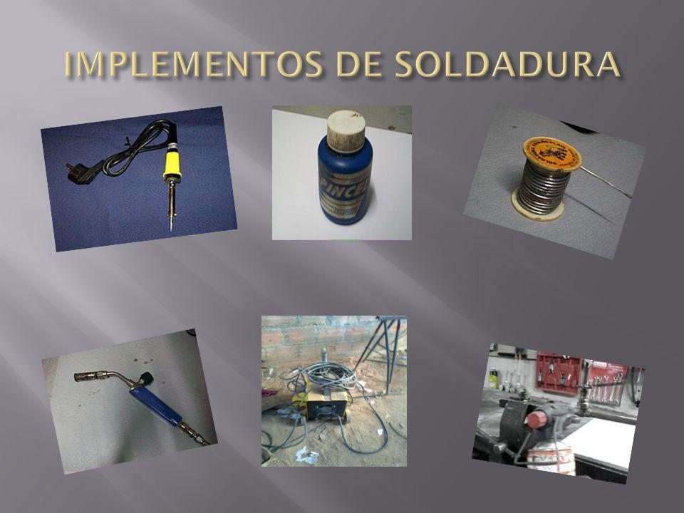 IMPLEMENTOS DE SOLDADURA
