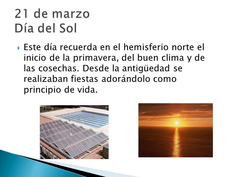 21 de marzo Día del Sol