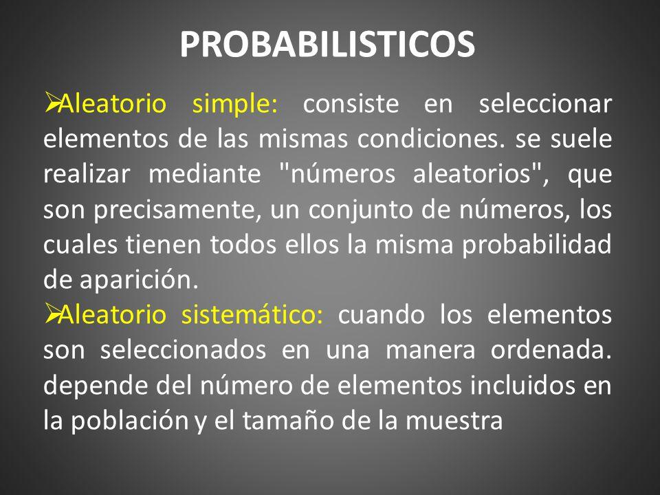 PROBABILISTICOS