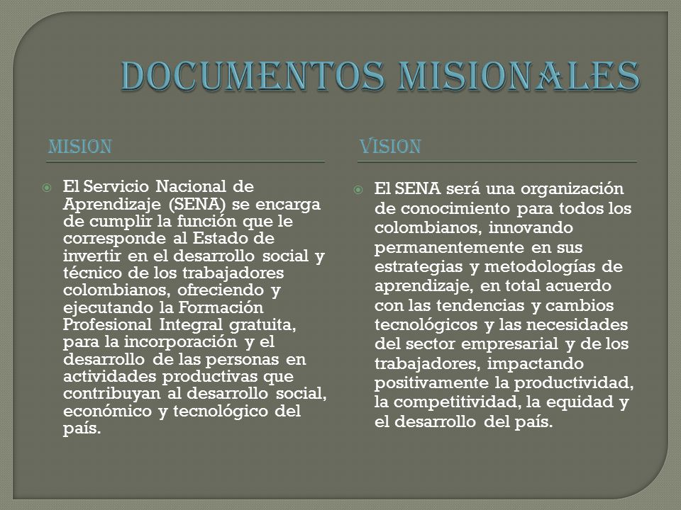 DOCUMENTOS MISIONALES