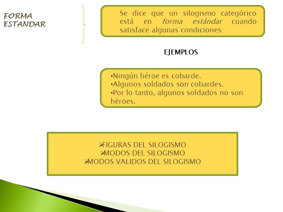 MODOS VALIDOS DEL SILOGISMO