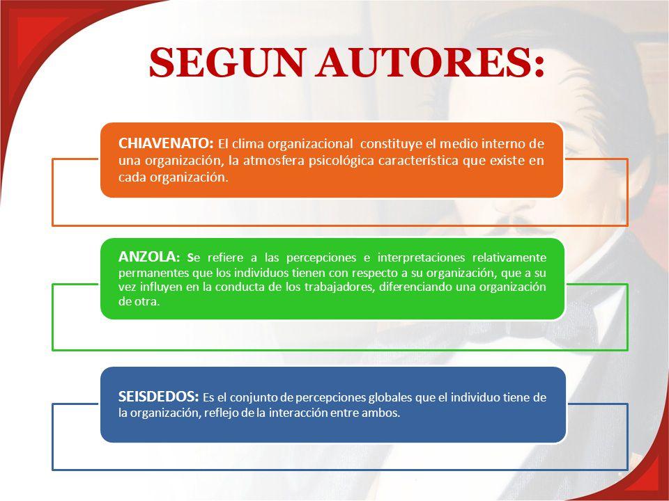 SEGUN AUTORES: