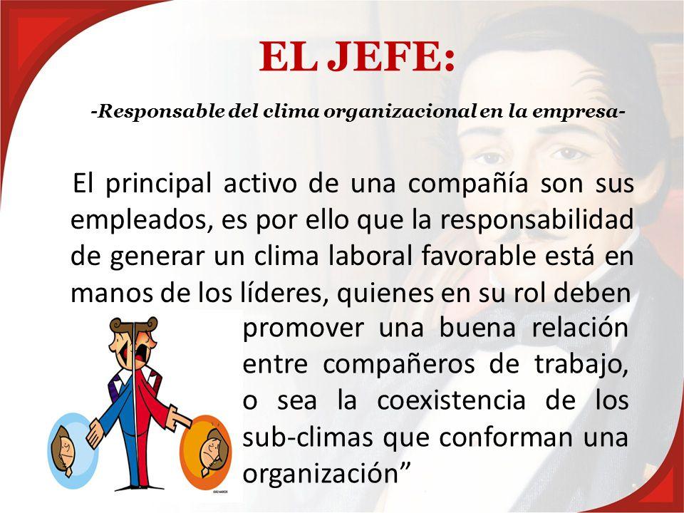 -Responsable del clima organizacional en la empresa-