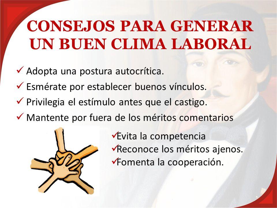 CONSEJOS PARA GENERAR UN BUEN CLIMA LABORAL