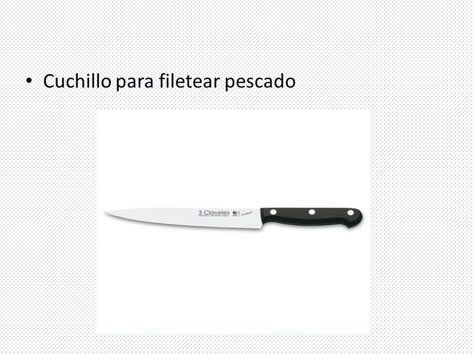 Utensilios de cocina ppt video online descargar for Cuchillo de pescado
