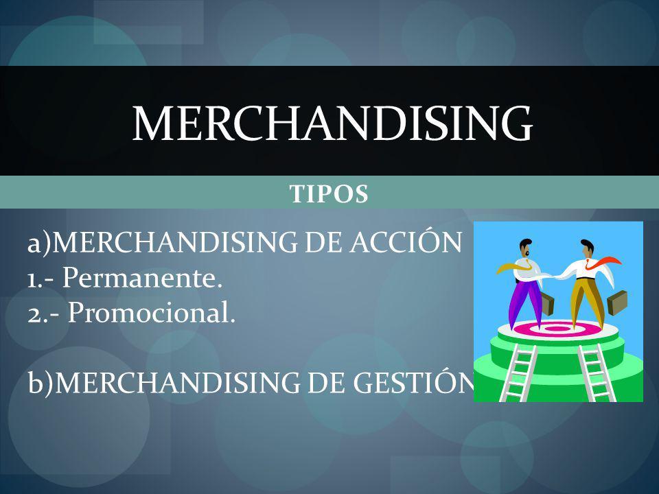 MERCHANDISING MERCHANDISING DE ACCIÓN 1.- Permanente. 2.- Promocional.