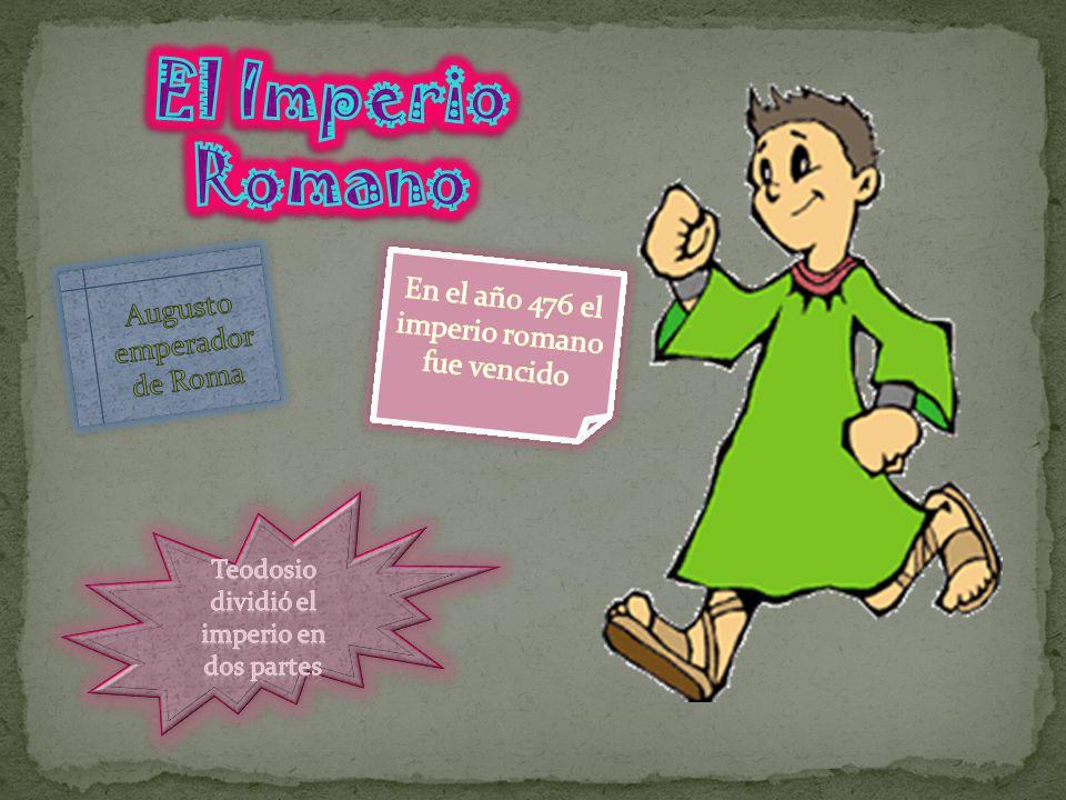El Imperio Romano En el año 476 el imperio romano fue vencido