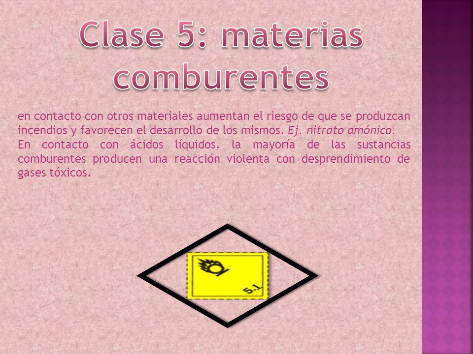 Clase 5: materias comburentes