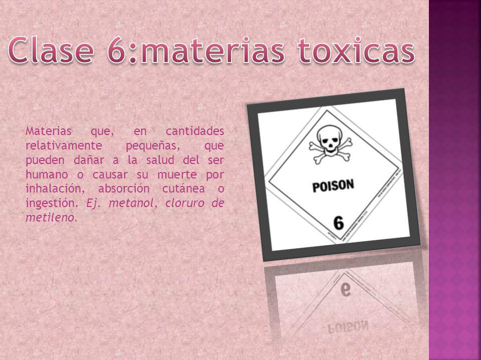 Clase 6:materias toxicas