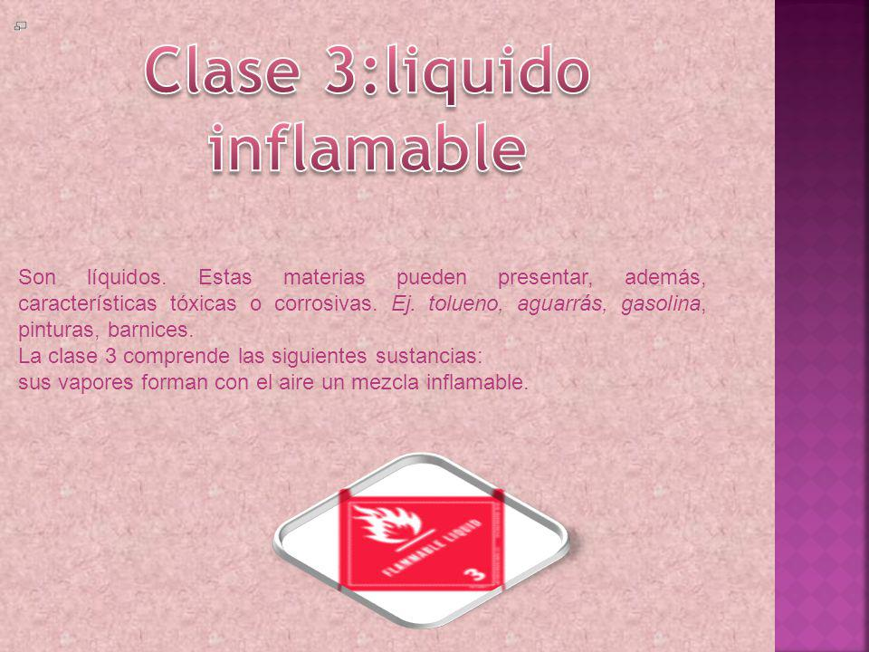 Clase 3:liquido inflamable