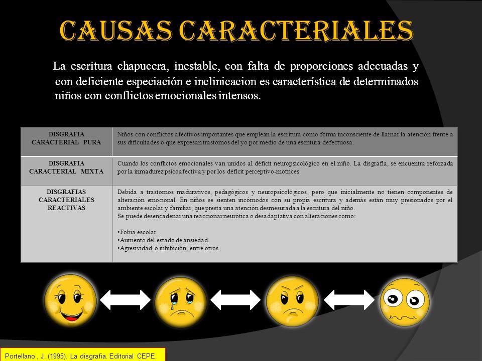 CAUSAS CARACTERIALES