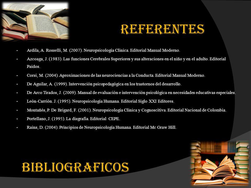 REFERENTES BIBLIOGRAFICOS
