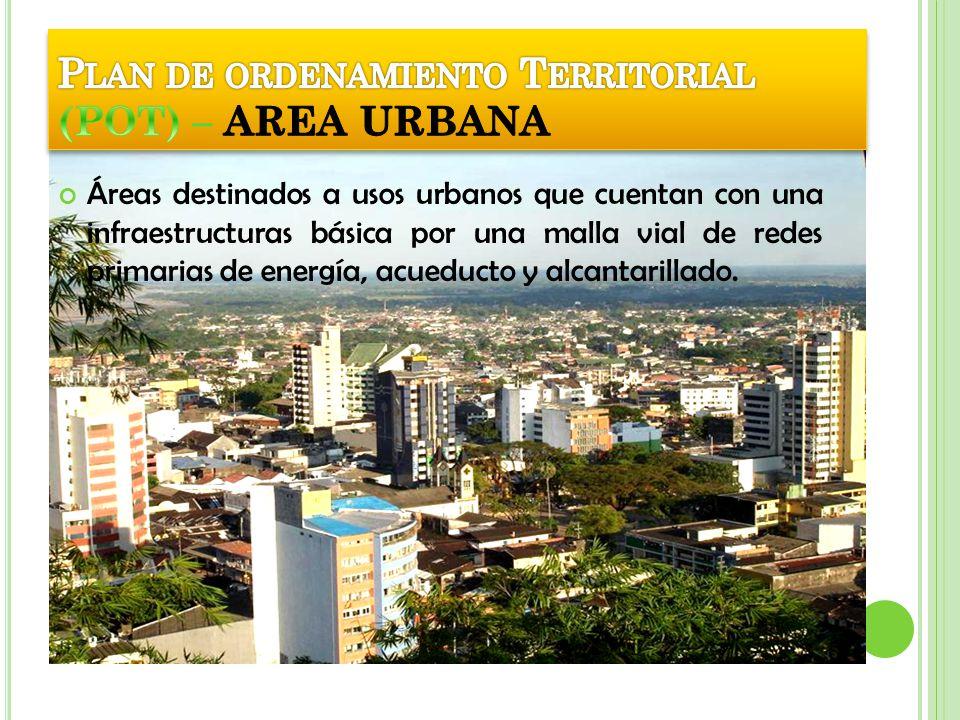 Plan de ordenamiento Territorial (POT) – AREA URBANA
