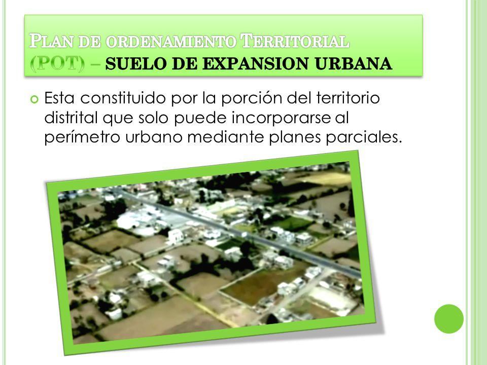 Plan de ordenamiento Territorial (POT) – SUELO DE EXPANSION URBANA