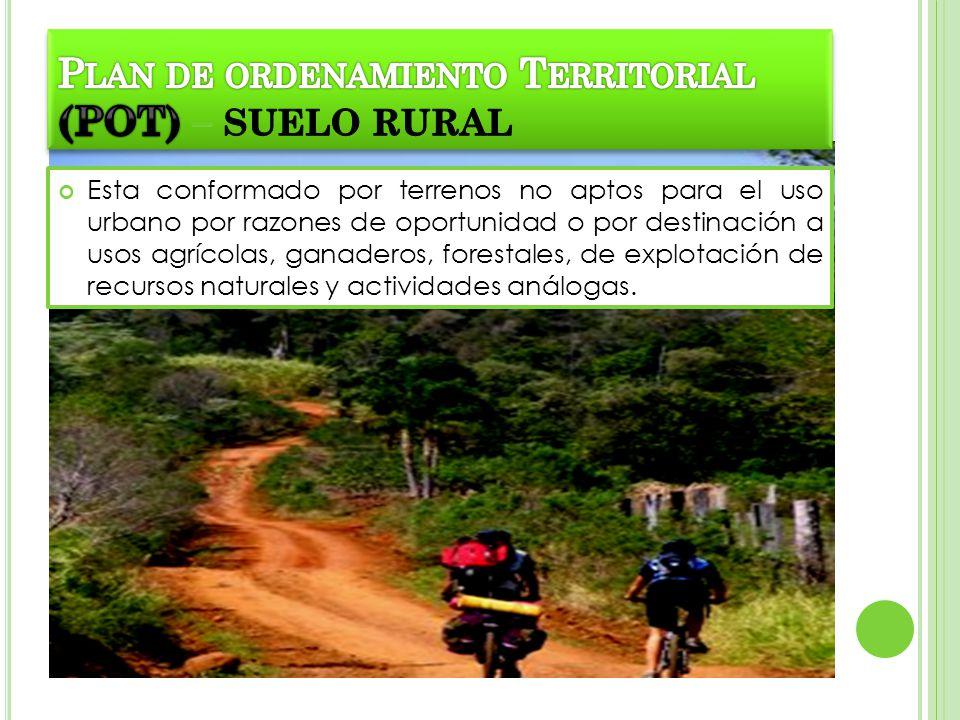 Plan de ordenamiento Territorial (POT) – SUELO RURAL