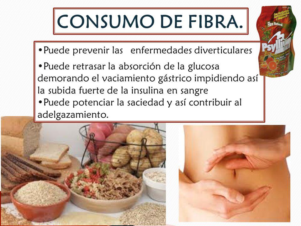 CONSUMO DE FIBRA. Puede prevenir las enfermedades diverticulares