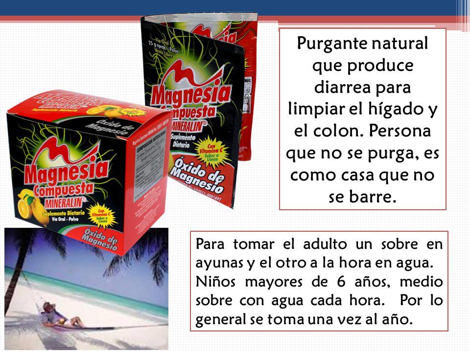 Purgante natural que produce diarrea para limpiar el hígado y el colon