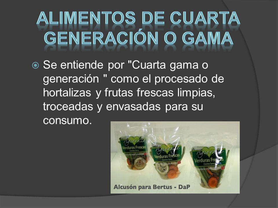 Alimentos de cuarta generación o gama