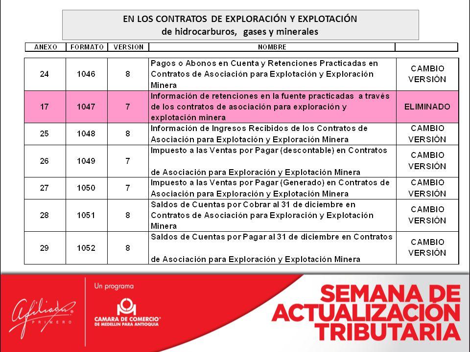 EN LOS CONTRATOS DE EXPLORACIÓN Y EXPLOTACIÓN