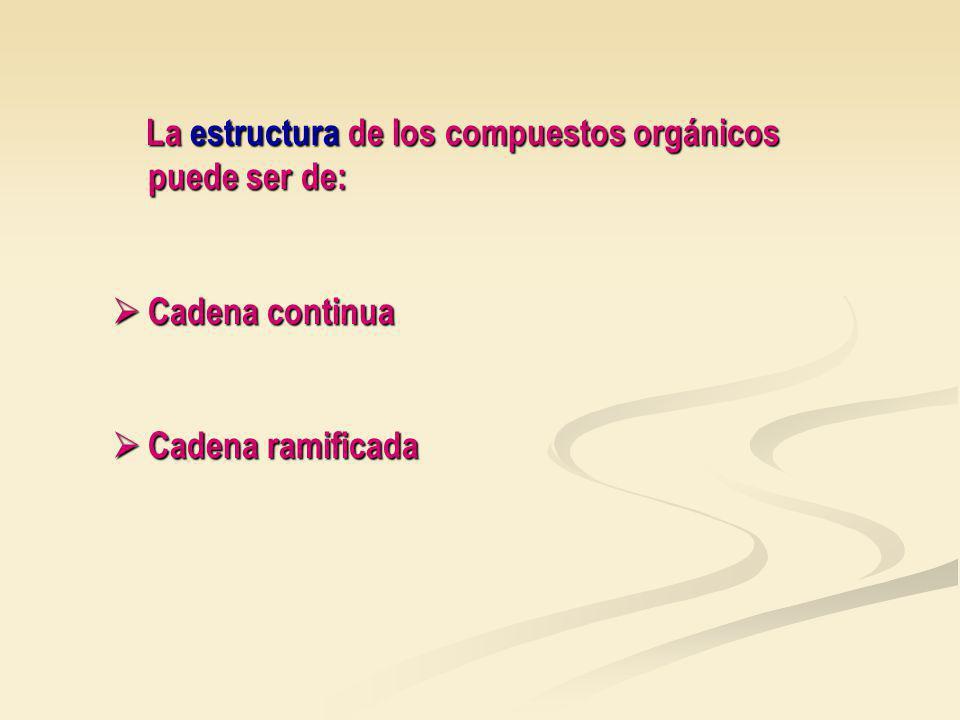 La estructura de los compuestos orgánicos puede ser de: